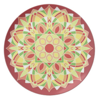 Plat de dîner géométrique de conception d'étoile assiettes en mélamine