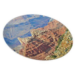 Plat de mélamine de paysage de canyon grand assiettes en mélamine