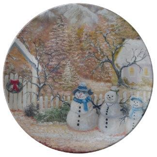 plat de porcelaine de Noël Assiettes En Porcelaine