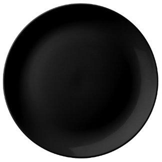 Plat de porcelaine - noir assiette en porcelaine