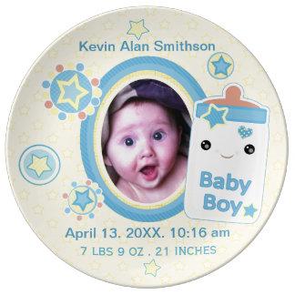 Plat fait sur commande de porcelaine de bébé de assiette en porcelaine