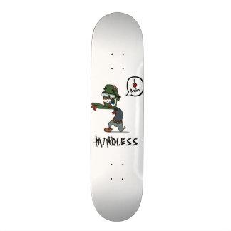 Plate-forme blanche insensée de zombi plateaux de skateboards customisés