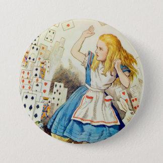 "Plate-forme d'Alice-Vol des cartes - 3"" bouton Badge Rond 7,6 Cm"