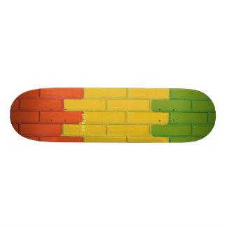 Plate-forme de briques de Rasta de patin de Che du Plateaux De Skateboards Customisés