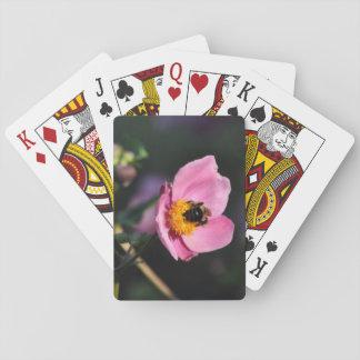 Plate-forme des cartes - fleur Abeille-Rose Cartes À Jouer