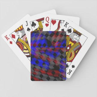 Plate-forme des cartes géométrique abstraite jeu de cartes