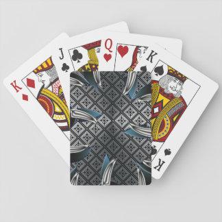 Plate-forme II d'argent de patte d'ours gris des Jeu De Cartes