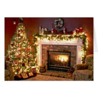 Plate-forme la carte de Noël de halls