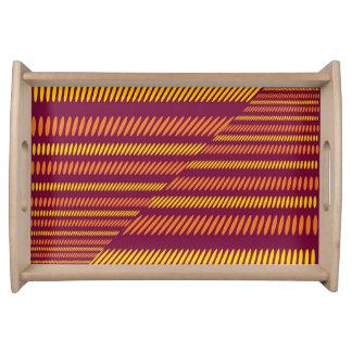 Plateau Abrégé sur ethnique africain rouge jaune orange