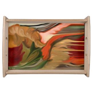 Plateau Art abstrait de corne d'abondance