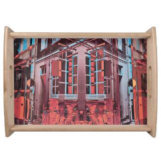 Plateau Art numérique bleu rouge de réflexion de fenêtres