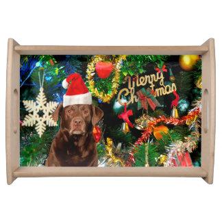Plateau Casquette de Père Noël de chien de labrador