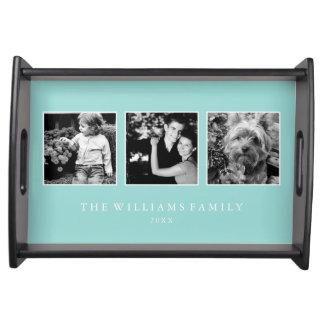 Plateau Collage en bon état de la famille 3-Photo