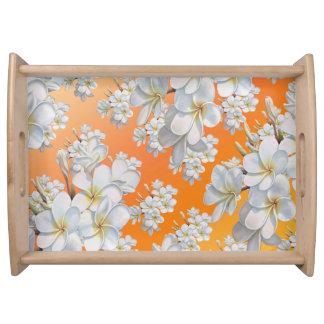 Plateau de fleur d'abrégé sur fleur orange et