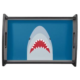 Plateau de portion d'attaque de requin