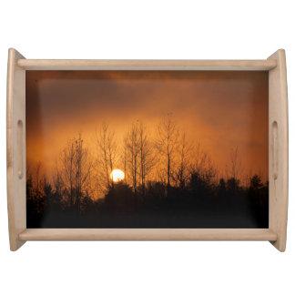 Plateau de portion de coucher du soleil