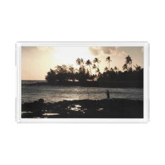 Plateau de portion de coucher du soleil de Kauai