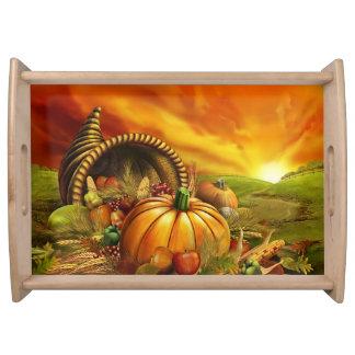Plateau de portion de thanksgiving