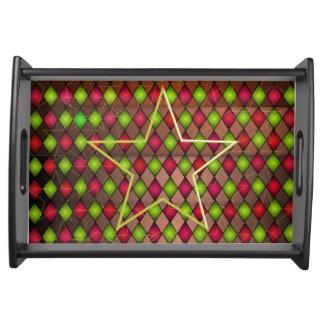 Plateau de portion d'étoile de couleur