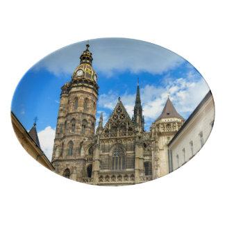 Plateau De Service En Porcelaine Cathédrale de St Elisabeth à Kosice, Slovaquie
