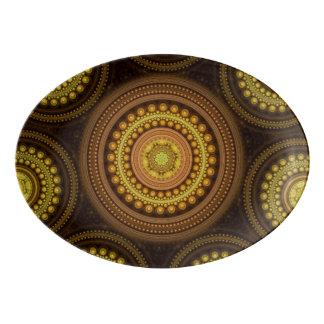 Plateau De Service En Porcelaine Cercles de fractale