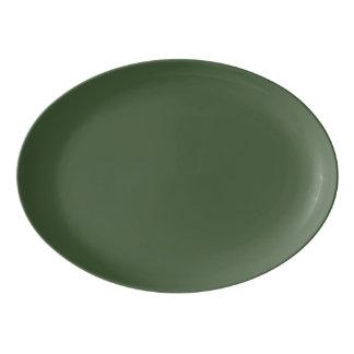 Plateau De Service En Porcelaine Couleur solide de Forest Green