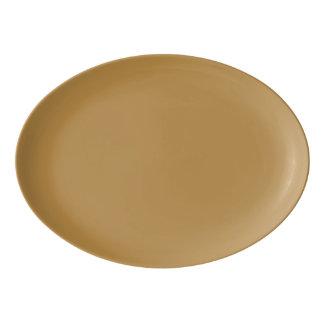 Plateau De Service En Porcelaine Couleur solide de miel de Brown
