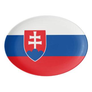 Plateau De Service En Porcelaine Drapeau de la Slovaquie