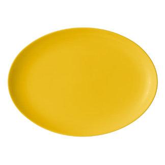 Plateau De Service En Porcelaine Personnaliser ambre de couleur solide il