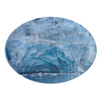 Plateau De Service En Porcelaine Prince William Sound Glacier