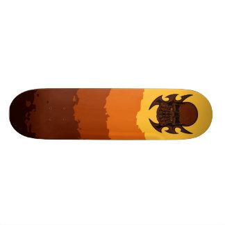 Plateau De Skate Planche à roulettes abstraite de crâne
