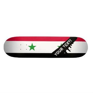 Plateau De Skateboard Le drapeau de la Syrie