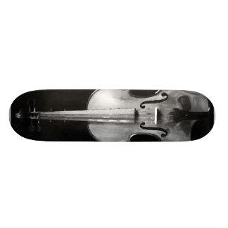 Plateau De Skateboard Planche à roulettes de crâne de violon
