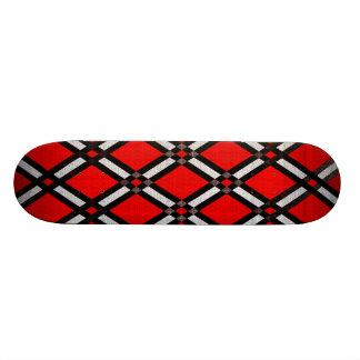 Plateau De Skateboard Planche à roulettes rouge de diamant
