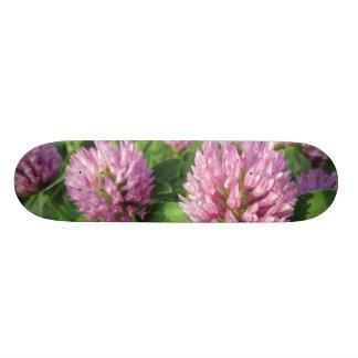 Plateau De Skateboard Trèfle rose et vert doux