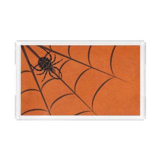 Plateau En Acrylique Araignée et Web