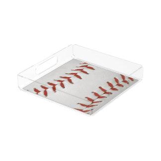 Plateau En Acrylique Arrière - plan de motif d'impression du base-ball