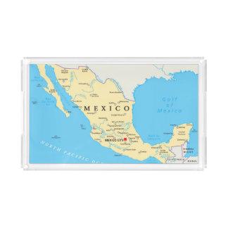 Plateau En Acrylique Carte politique du Mexique