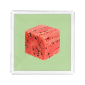 Plateau En Acrylique Cube rouge doux frais original en nourriture de