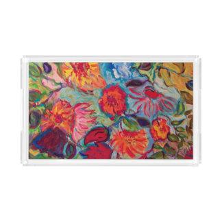 Plateau En Acrylique Fleurs pour Jenna
