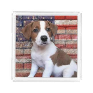 Plateau En Acrylique Jack patriote Russell Terrier