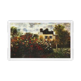 Plateau En Acrylique Jardin de Claude Monet-Monet à Argenteuil