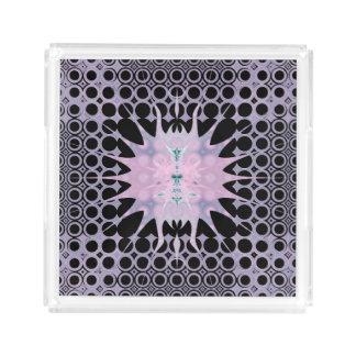 Plateau En Acrylique Lavande pourpre rose et art noir Nouveau Sun
