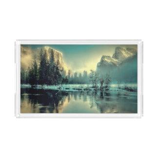 Plateau En Acrylique Lever de soleil de parc de Yosemite