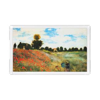 Plateau En Acrylique Monet-Pavots de Claude à Argenteuil