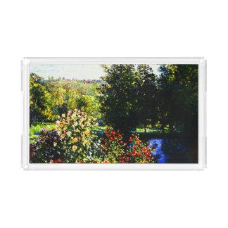 Plateau En Acrylique Monet-Roses de Claude dans le jardin chez