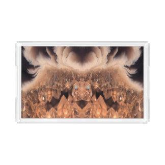 Plateau En Acrylique Motif en cristal décoratif de Brown Geode