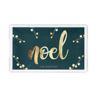 Plateau En Acrylique Noel ajoutent Noël nommé d'or de Faux