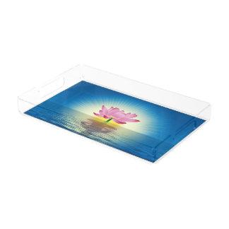 Plateau En Acrylique Réflexion de Lotus