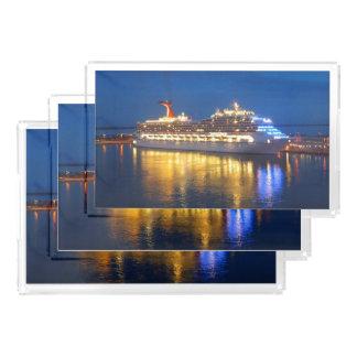 Plateau En Acrylique Réflexions de port